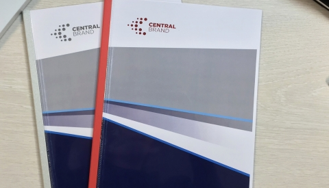 Corporate branding with the Flat Bed Foil Printer