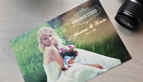 Wedding pictures personalised with the Flat Bed Foil Printer